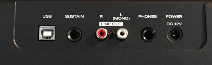 Alesis Recital Back Panel