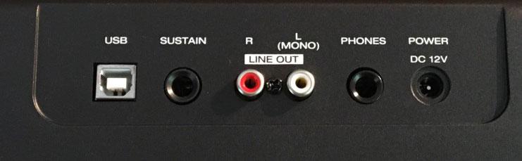Alesis Recital Back Panel