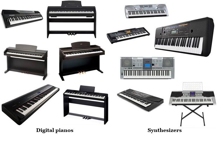Digital pianos and electronic keyboards