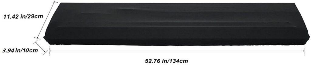NKTM Black 88 Keys Protective Dust Cover