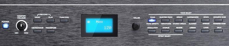 Alesis Recital Pro control buttons