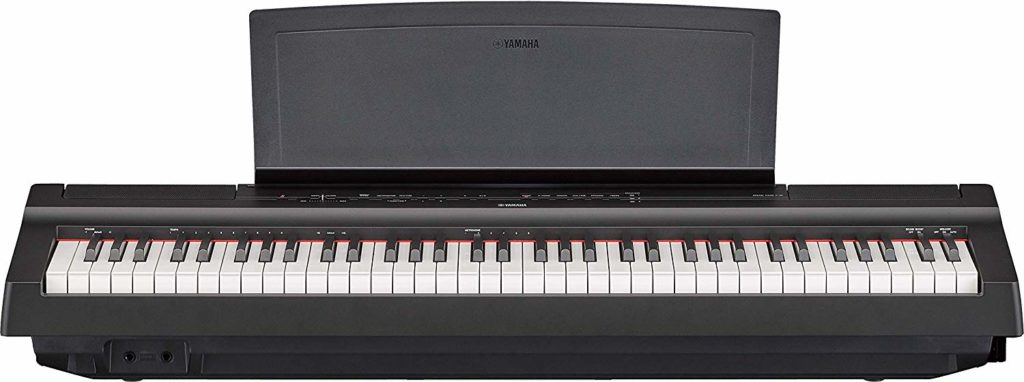 Yamaha P-121 with music rest
