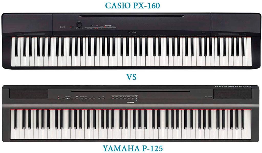 Casio PX-160 vs Yamaha P-125
