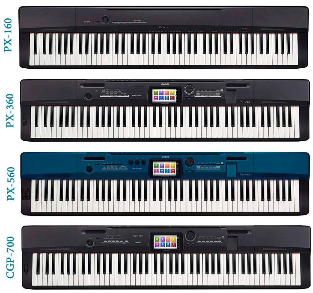 Casio px-160 vs px-360 vs px-560 vs cgp-700