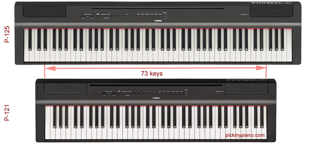 Yamaha P-125 and P-121