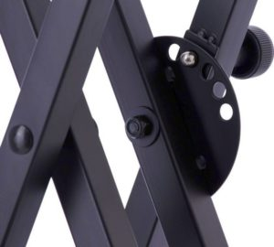 World tour double X keyboard stand lock