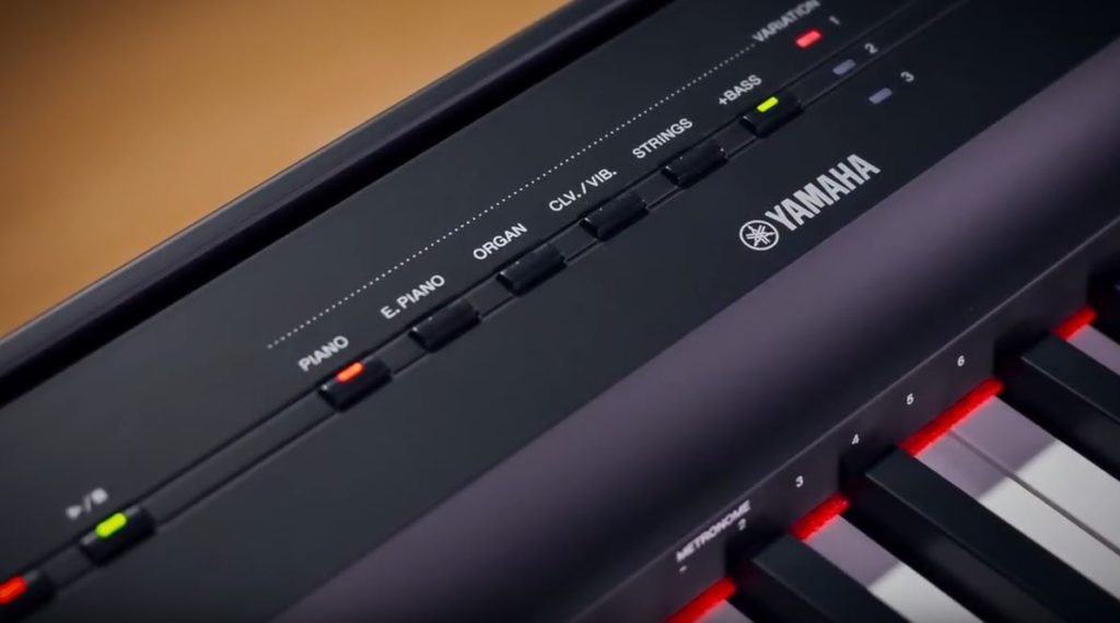 yamaha p-125 controls